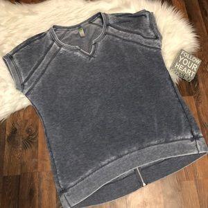 ❤️ Green Tea  Burnout Gray Sweatshirt